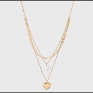 Charm embellishment layered necklace - Gold